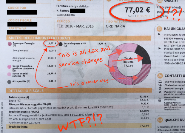 enel electricity bill